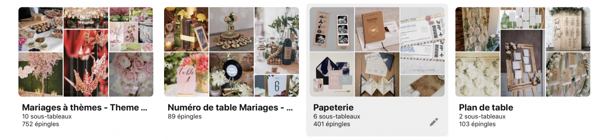 """=alt""""moodboard trouver inspiration mariage"""""""