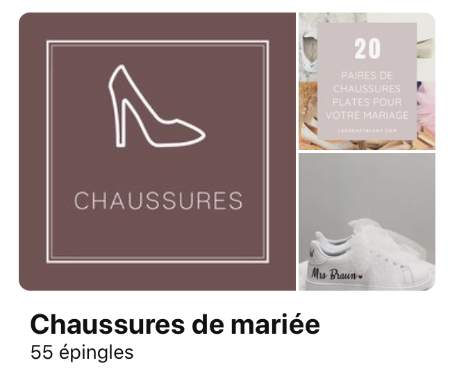 Chaussures Pinterest - Le carnet blanc - blog mariage