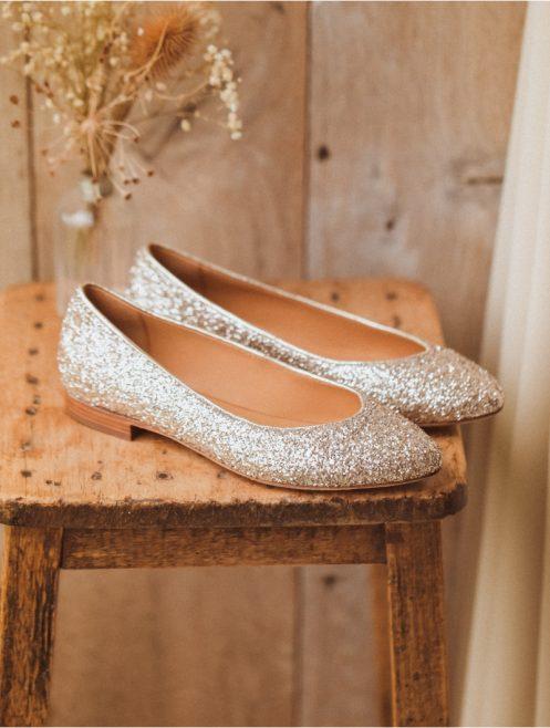 "=alt""chaussures plates mariée mariage"""
