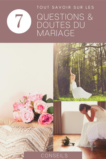 Questions doutes peurs tabous sur le mariage - Le Carnet Blanc - Blog Mariage