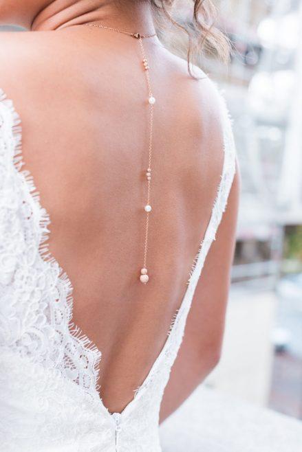 bijoux de dos, collier de dos tendance pour votre mariage - Le Carnet Blanc - Blog Mariage