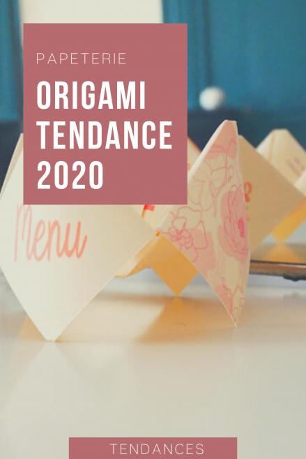 L'origami la tendance pour votre papeterie de mariage - blog mariage - le carnet blanc