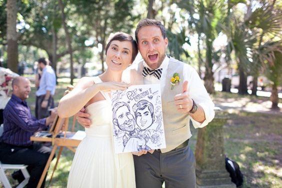 caricature - caricaturiste mariés - animations originales pour un mariage - blog mariage - Le Carnet Blanc